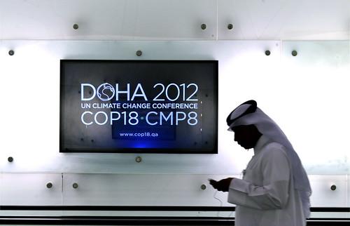 在杜哈舉辦的COP18會議。(圖:CGIAR Climate)