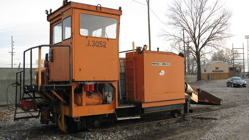 Indiana Harbor Belt Railroad jet snow blowing machine.  Hammond Indiana.  Sunday, November 25th, 2012. by Eddie from Chicago