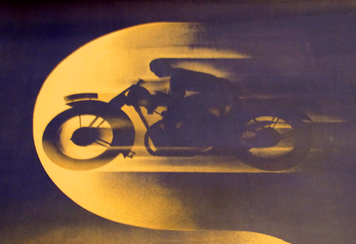 1920's moonlight motorbike graphic. by bullittmcqueen