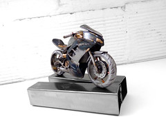 Motorcycle Ninja Sculpture