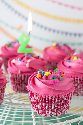cupcakes rosas