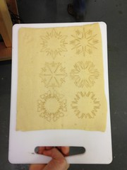 Laser etched pastry for mince pies