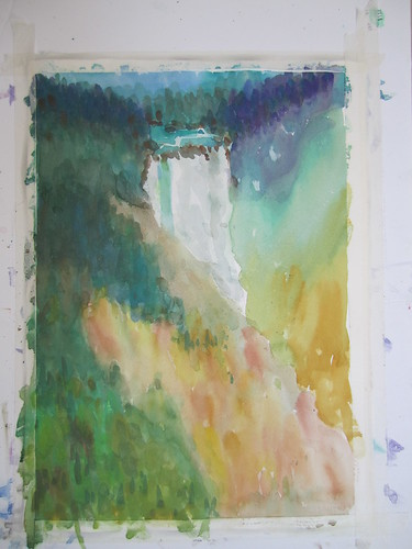 41 Yellowstone falls by luv2draw