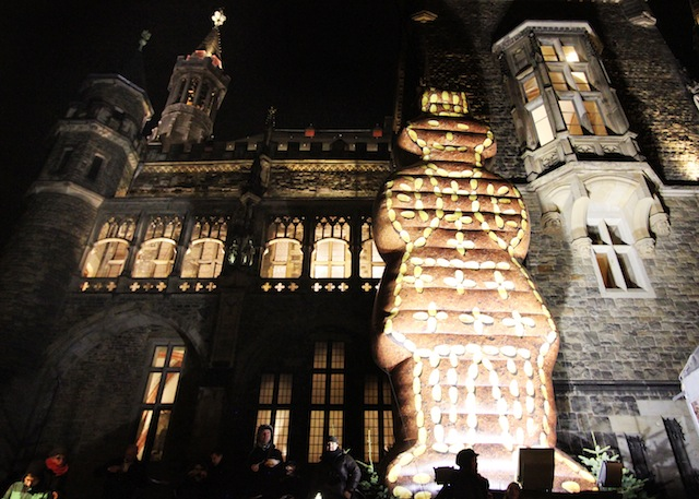 Aachen Christmas market gingerbread man