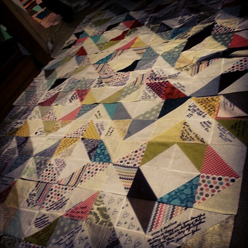 Color explosions! Diamond signature quilt.