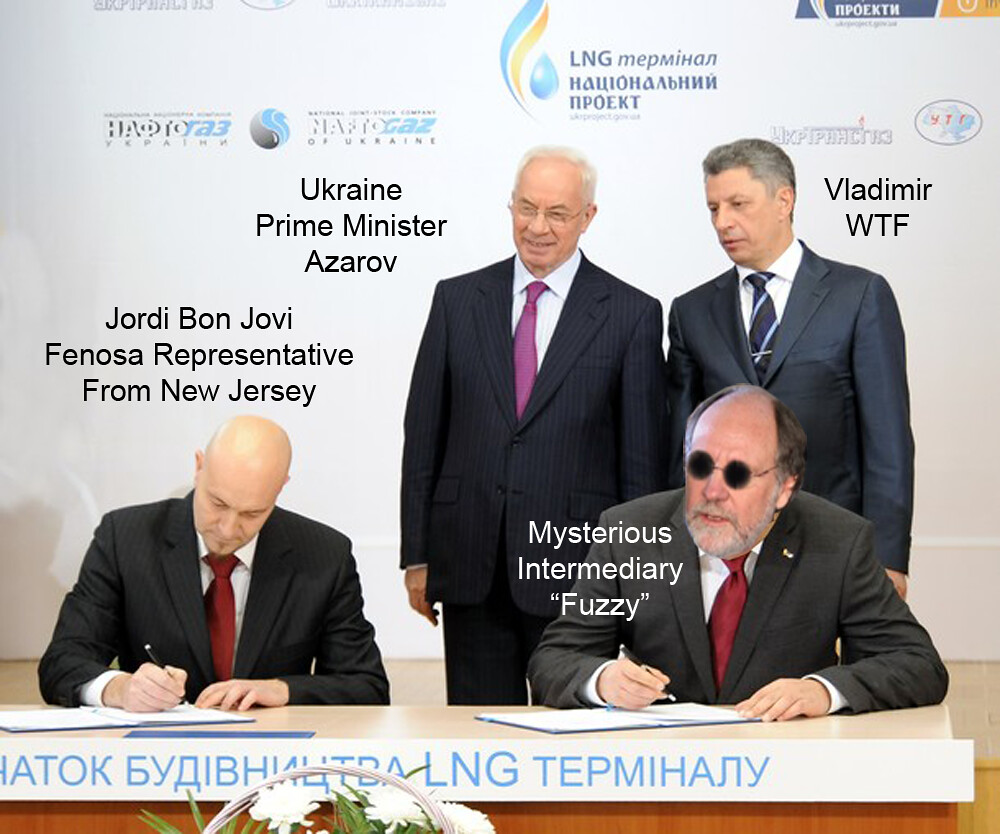 MYSTERIOUS UKRAINE LIQUID GAS DEAL