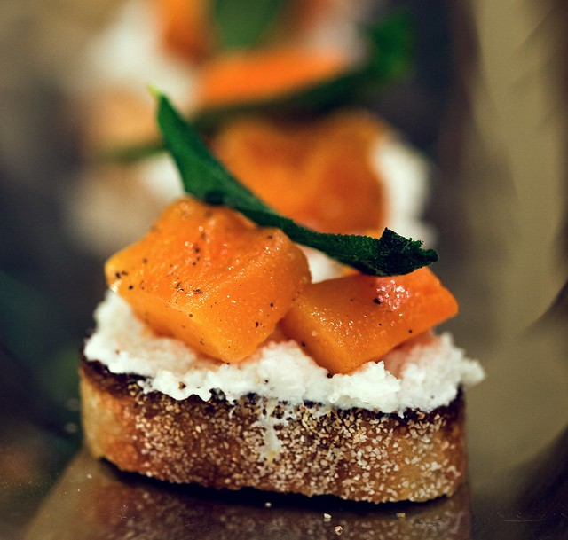 Butternut Squash, Ricotta, and Sage Crostini | Spache the Spatula