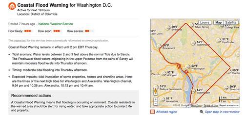 Google Crisis Response Map