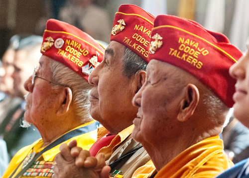 Navajo Code Talker veterans attended the 2012 Fourth Annual White House Tribal Nations Conference at the U.S. Department of Interior in Washington D.C. on Wednesday, Dec. 5, 2012.