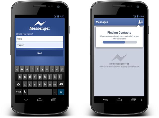 facebook messenger - 전화번호로 확장