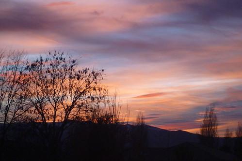 pink sunset mountain utah purple nightshot logan cachevalley