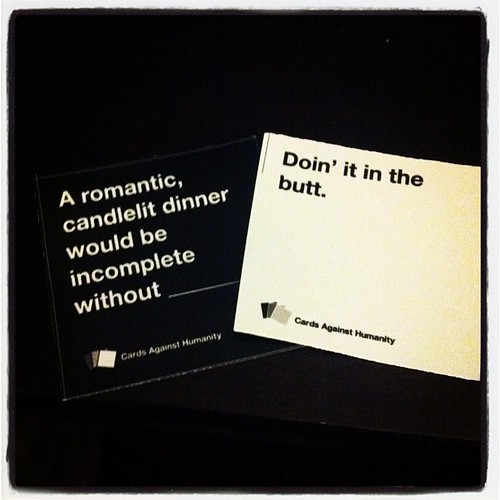 Playing #CardsAgainstHumanity with your #mom gets really #awkward when she plays a hand like this. @andreanickle
