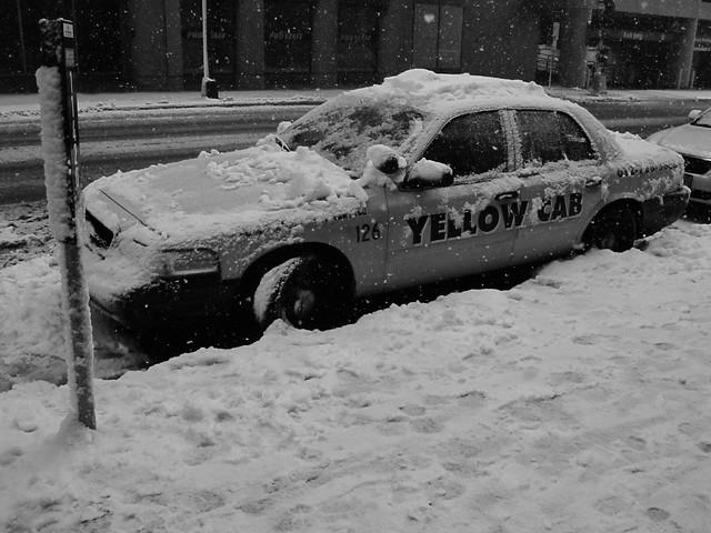 Yellow & White Cab