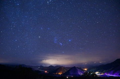 Orion and clouds