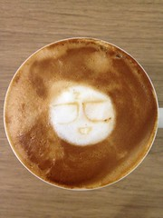 Today's latte, Z-kun, the mascot character of Daily Portal Z.