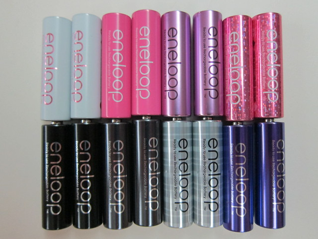 Sanyo Eneloop New Glitter AA Battery Packs
