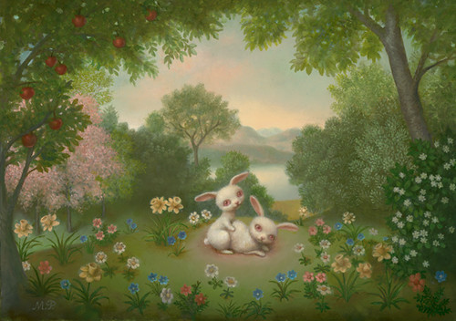 Marion Peck, Bunny Love, Oil on canvas, 2007