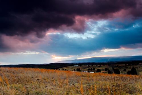 clouds landscapes sunsets westvirginia sunbeam canon7d cacaponmountain deanwhitehurst