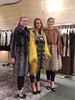 Caroline Lewis, Haley Zoller and Bekah Stinehour model furs costing more than $32,000 at Fendi in Rome.