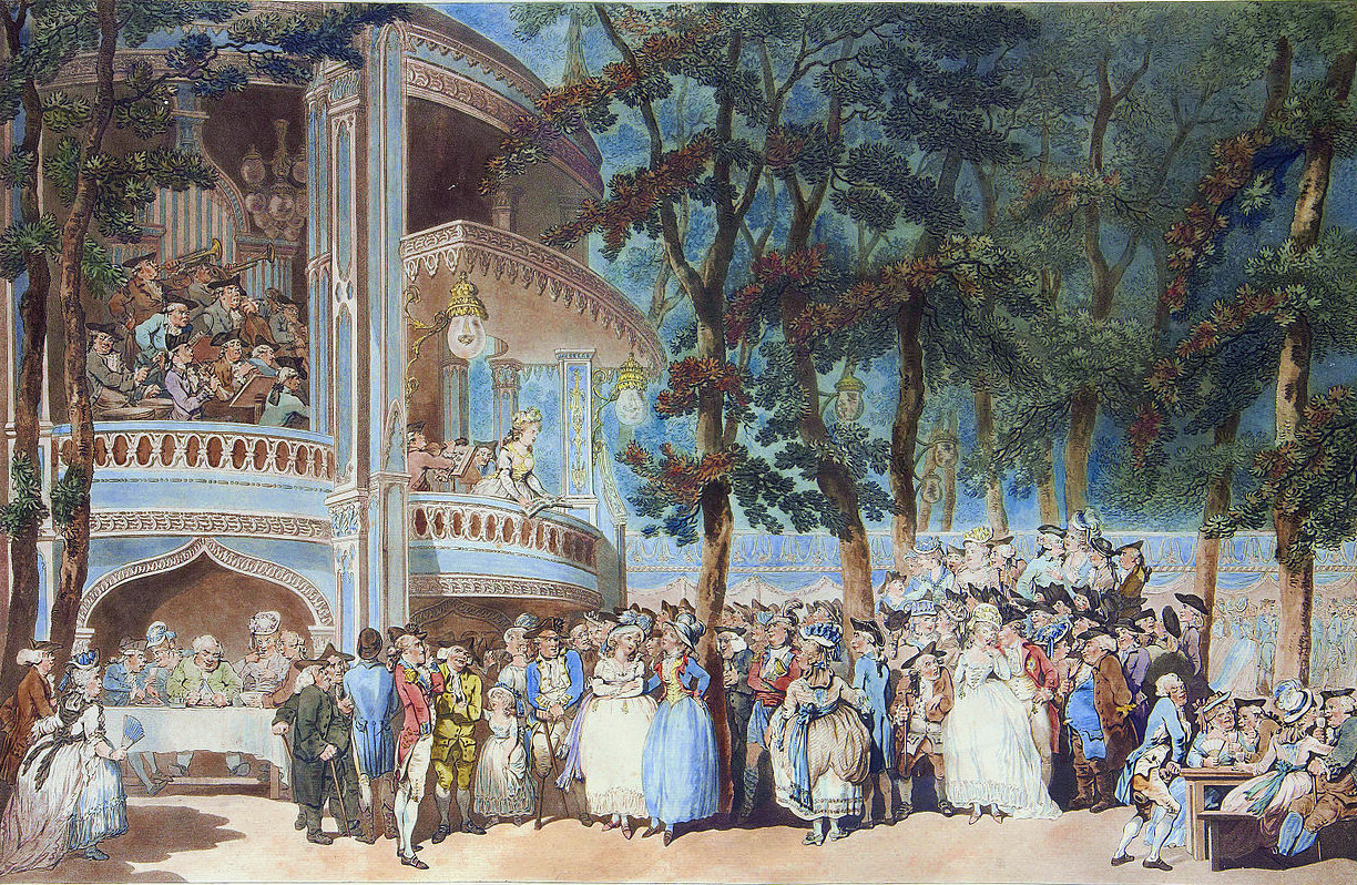 Vauxhall Gardens by Thomas Rowlandson, 1785