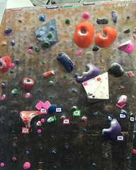 First time top of V1 green here #lunchrockclimbing #bouldering