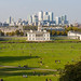 Queens House from Greenwich Park over London