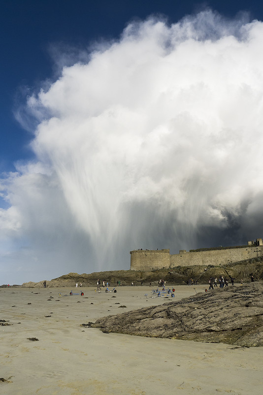 Showers over Saint-Malo