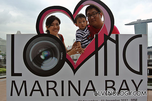 Me with my family at the Loving Marina Bay 2012 exhibition - you can visit Clifford Square to take your picture too