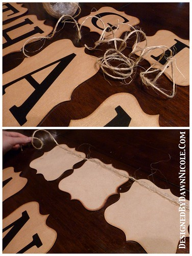 DIY Wooden Give Thanks Banner