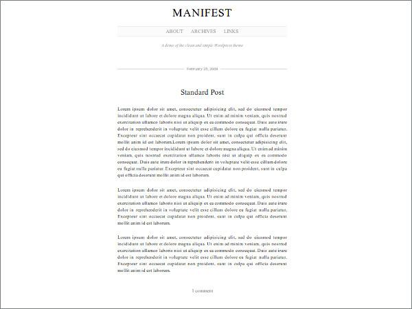 Manifest Free WordPress Theme