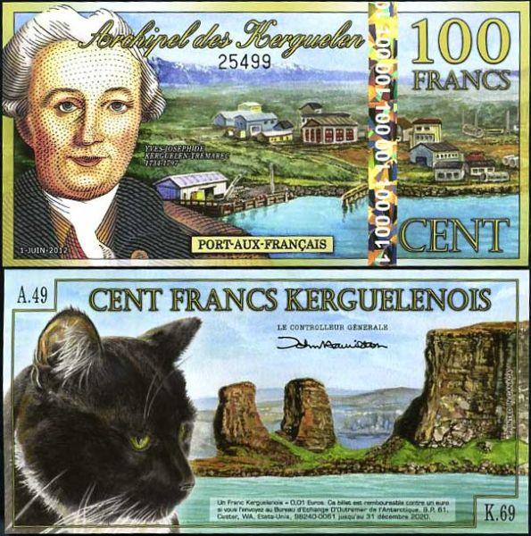 100 Frankov ostrovy Kergueleny 1.6.2012, polymer