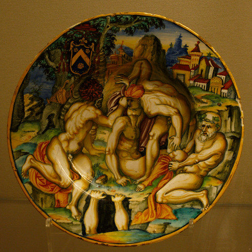 16th Century Painted Ceramic Plate