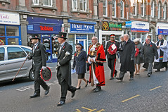 Remembrance Day in Walsall 11/11/2012