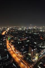 Bangkok skyline at night from State Tower