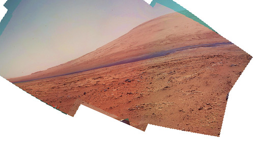 Curiosity sol 84 85 MAHLI anaglyph 3825 x 2121