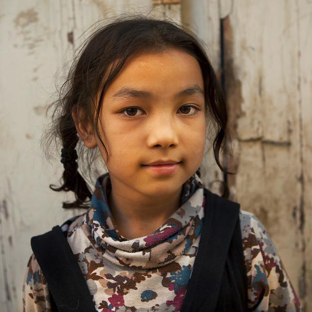Young Uyghur Girl, Old Town, Kashgar, Xinjiang Uyghur Auto