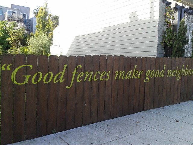 good fences make good neighbours essay