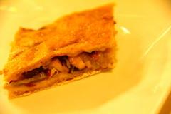 Empanada de zamburiñas con pan de Cea