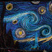 Van Gogh's Starry Night in quilt form by Nick Loven