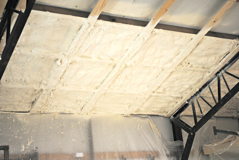 Shop Remodel 68 by Formerly JimboT  on Flickr. Spray foam options   The Garage Journal Board