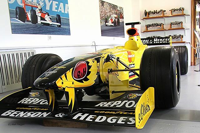 A Jordan Grand Prix car at the Donington Collection
