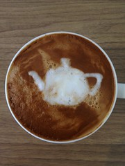 Today's latte, Utah Teapot. #geeklatte