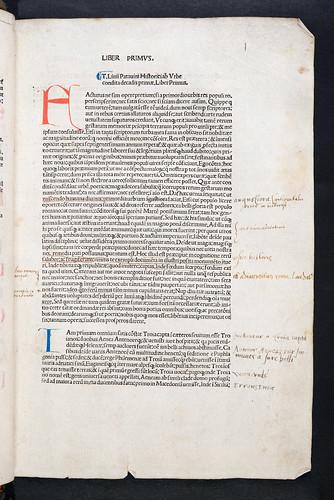 Manuscript annotations in Livius, Titus: Historiae Romanae decades