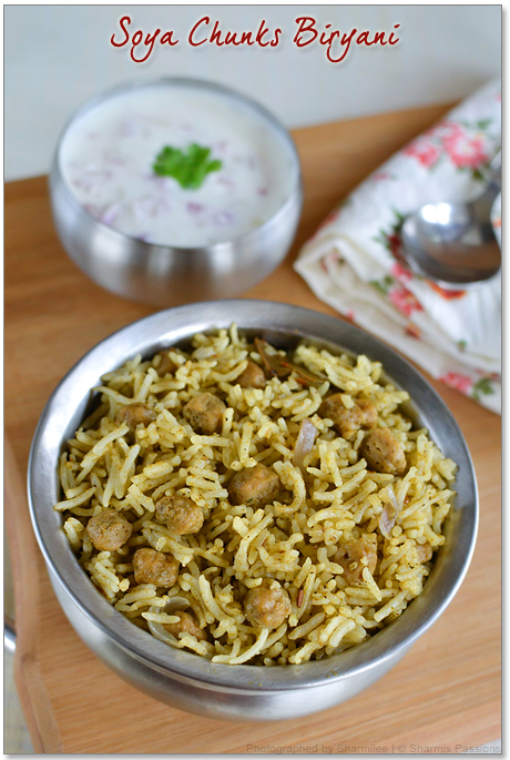 Soya Chunks Biryani Recipe