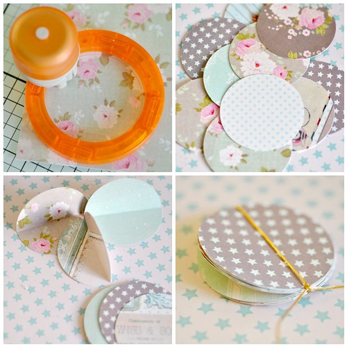 Pretty paper bauble -steps 1-4