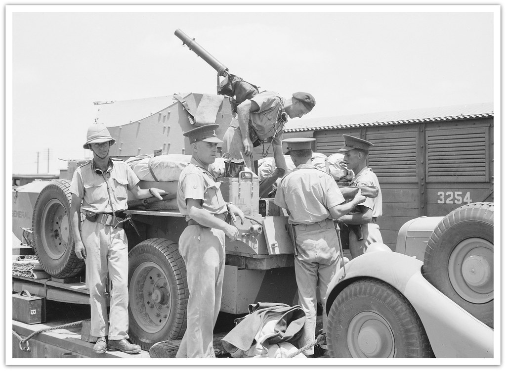 A Rolls Royce armoured car of the 11th Hussars, British Army, in Palestine.