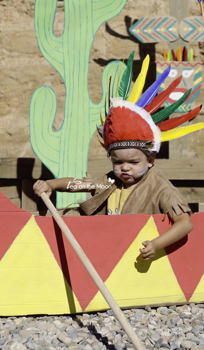Cumpleaños indios canoa 0