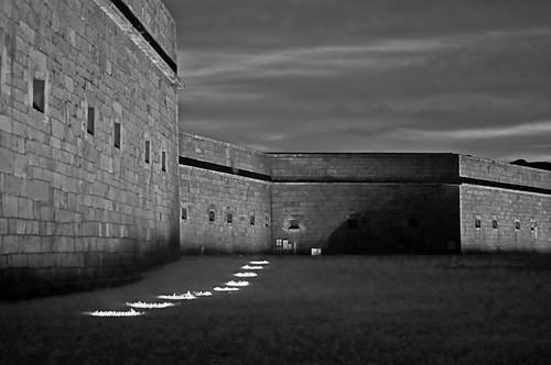 Fort Adams at Dusk by Jerri Moon Cantone via I {heart} Rhody