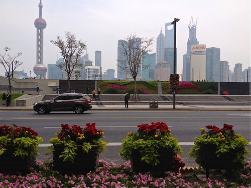 Gardens, the Bund and Pudong, Shanghai