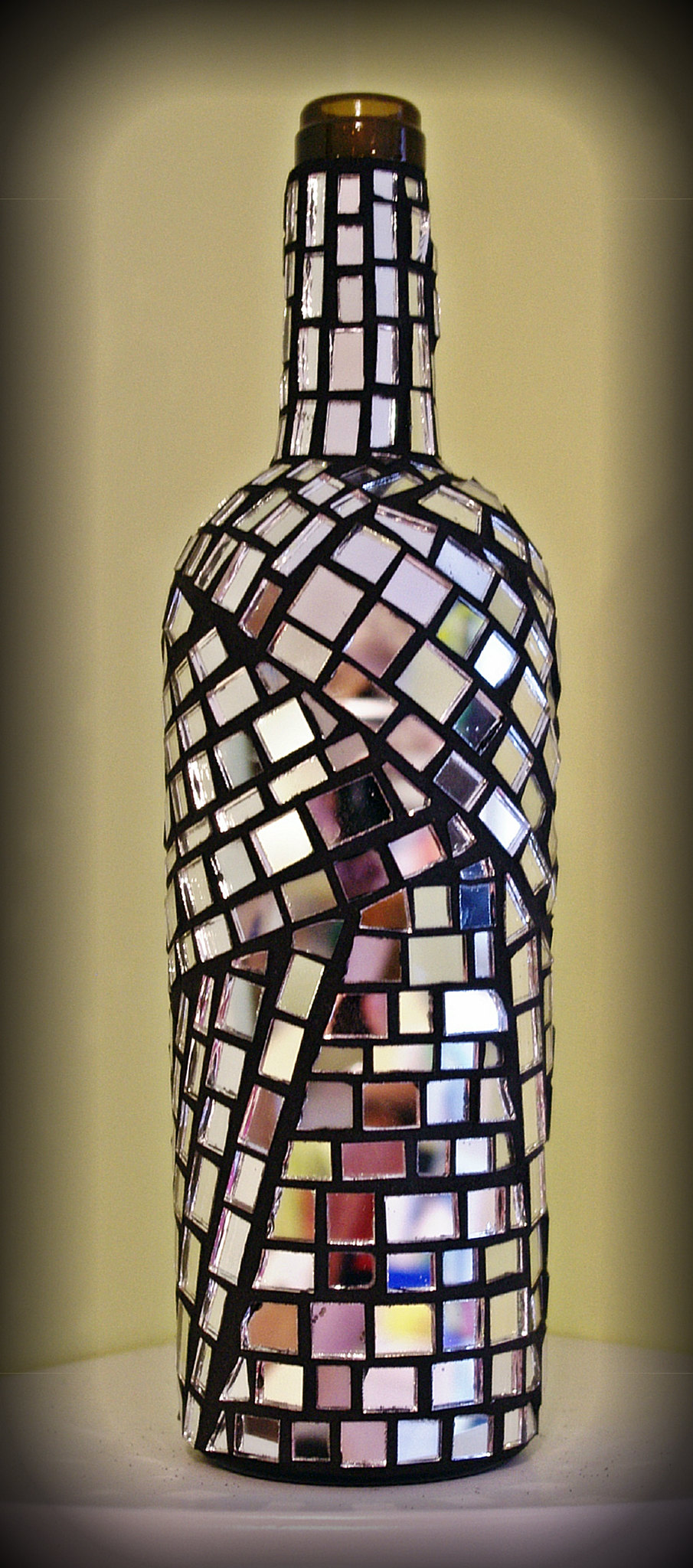 Mirror Mosaic Wine Bottle Flickr Photo Sharing